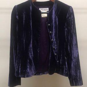 Stunning Yves Saint Laurent purple velvet jacket.